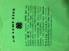 4H Camp Life shirt inspiration