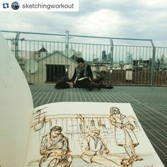 #Repost @sketchingworkout with @repostapp  Sketchmob Milano. After a while I started drawing people who were drawing roofs... @highlinegalleria #sketchmob #highlinegalleria #urbansketching #urbansketch #usk #urbansketchersmilano #sketch #carnetdevoyage #sketchbook #milano #ink #fountainpen #watercolor #whatsinsideyournotebook #tettodimilano #art#tetti#igerslombardia #igersmilano #igersmilano #milanodaclick #milanodavedere #milanodavivere #milanocityufficial#art#draw# drawing by…
