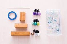 How to Use Nail Polish to Marble Anything via Brit + Co.