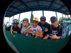 NL Contest 2016 #100% #lit !!!@nl_contest #nlcontest2016 #djtkilla #djq #djnelson #rectapestudio #djp #djswa #turntableast #crew #happy #smile #skateboarding #deejaying  #bmx #djs #roller #turntablism #sun #goodtimes with my @turntableastcrew ( from left to right @djtkilla67 @thedjq @nelsonscratch @rectapestudio @the1andonlydjp and the homie @djswa23 who isn't on this pic) #france  @djtkilla67 phone #fisheye #litasfuck #fun by nelsonscratch