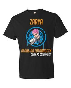 Overwatch Zarya - Black Short sleeve t-shirt