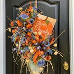 9 Ways to Make a Bow For A Wreath   Southern Charm Wreaths How To Make Wreaths, How To Make Bows, Bow Making Tutorials, Elegant Fall Wreaths, Wax Flowers, Welcome Wreath, Southern Charm, Mesh Wreaths, Thank You Gifts
