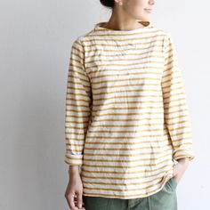 I have a thing for stripes, odd necks (especially highboat ones), and rolled sleeves.