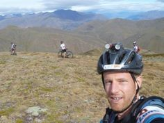 View over the Crown Ranges with the Queenstown finish line in the distance. Godzone 2013. Team Rogue Adventure.