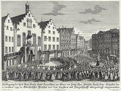 Empfang anläßlich der Kaiserkrönung 1745 vor dem Römer, © Stadt Frankfurt am Main, Institut für Stadtgeschichte