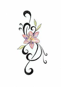 Картинки по запросу эскизы цветов с завитушками