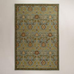 One of my favorite discoveries at WorldMarket.com: 6'x9' Leaf Medallion Loop Wool Rug