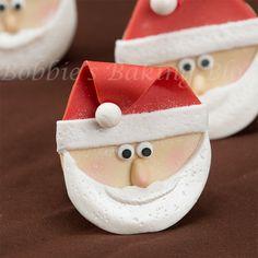 how to make a santa claus cupcake