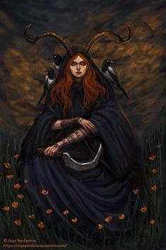 Goat Eyed Witch by AsyaYordanova