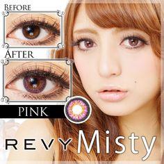 REVY Misty(レヴィミスティ)カラコン装着画像&口コミ[茶/灰/ピンク/青/緑]   REVY(レヴィ)カラコン激安通販GLAM![口コミ/お得クーポン]