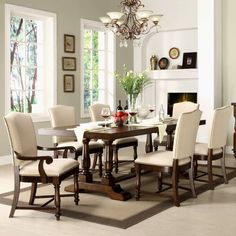 Riverside Newburgh 7 piece Dining Set with Castlewood Chairs - RVS1633