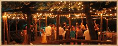 I loved the idea of dancing under the stars and the lighting is beautiful as well.  Feels like a backyard wedding if I had my own wood cabin home.  Nature is all around at this location.