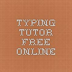 Typing Tutor Free Online