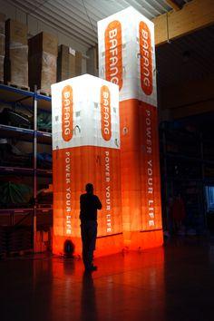 aufblasbare riesige Tower - Anfertigung nach Kundenwunsch - von 2 bis 8m Höhe - rundum bedruckt - Innenbeleuchtung möglich - leichte Handhabung - schneller Auf- und Abbau ... mehr dazu unter www.noproblaim.de Fun, Interior Lighting, Hilarious