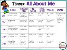 iTeach from the Heart: Tot School: All About Me Daycare Lesson Plans, Pre K Lesson Plans, Lesson Plans For Toddlers, Daycare Curriculum, Curriculum Planning, Infant Lesson Plans, September Preschool Themes, All About Me Preschool Theme, All About Me Activities For Preschoolers