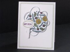 Happy Spring #Card by Tara Murphy Bourgoin #papercrafts @stampinup #SCTMagazine