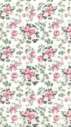 Wallpaper s, kawaii wallpaper, pattern wallpaper, flower wallpaper, wallpap Vintage Flowers Wallpaper, Flower Wallpaper, Nature Wallpaper, Pattern Wallpaper, Painting Wallpaper, Shabby Chic Wallpaper, Amazing Wallpaper, Trendy Wallpaper, Fabric Wallpaper