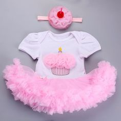 Lollipop Sugar Shop ~ Products ~ 1st Happy Birthday girl party cupcake dress tulle frill ~ Shopify