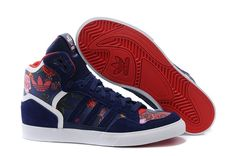 new styles f0a78 64e78 2015 Adidas Originals Extaball Rita Ora W M19066 Athletic Fashion Sneakers  - blue flower Red Athletic