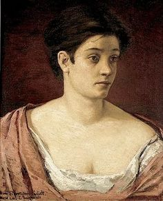 An unusual Cassatt portrait.  Here is a Mary Cassatt portrait much more similar to the early 18th-century portraits of colonial American women. Cassatt painted Portrait of a Woman in 1872, during an 8-month stay in Parma, Italy.