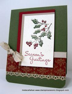 "Classic Christmas ***** SU ""Watercolor Winter"", 2012 Holiday Mini."