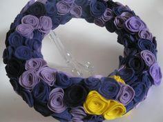 Felt Rosette Wreath Tutorial » Twin Dragonfly
