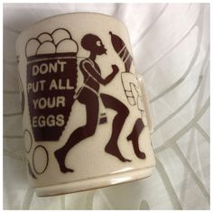 Vintage Hornsea Lancaster Vitramic Ceramic Mug, Don't Put All Your Eggs, Novelty, Humour, Collectable, Made in England by BoBisBitsofVintage on Etsy
