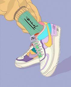 Jordan Shoes Wallpaper, Sneakers Wallpaper, Nike Wallpaper, Dark Wallpaper, Disney Wallpaper, Cartoon Wallpaper, Images Kawaii, Dark Purple Aesthetic, Sneaker Art