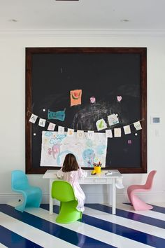 7 kids rooms with fun chalkboard walls