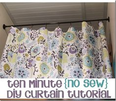 How to make a simple no-sew DIY curtain in only ten minutes!  Seriously!