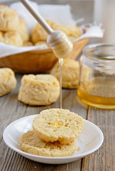 Try my Paleo biscuits recipe! These are light and fluffy and don't crumble. Made with almond flour, coconut flour and tapioca flour.