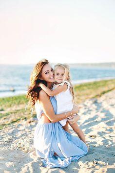 Summer family photo shoot, beach family photos, summer pictures, summer family photos, summer family photo ideas, beach themed ideas. Sand, nautical, water, beach, family, mother, daughter photography.