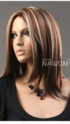 I'm getting my hair done like this for summer. So close to my Natural Hair Color just need to add white highlights. <3