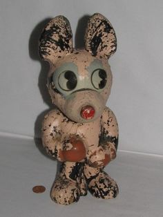 Antique Very Rare 1930 s Mickey Mouse w/ Boxing Gloves