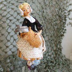 """Колокольчик """"Дочь рыбака"""" - бежевый,колокольчик,колокольчики,колокольчик керамический"""