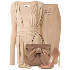 Neutrals by daiscat on Polyvore featuring MM6 Maison Margiela, Emilio Pucci, Casadei, Valentino, See by Chloé and Ippolita