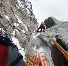 Rick Vance climbing Seraph in the Revelation Mountains in Alaska. Photo from Alpinist Magazine @alpinistmag