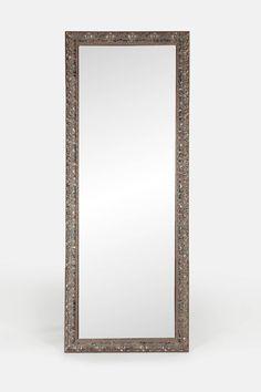 Distressed Silver Border Mirror