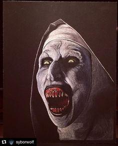 "1,841 Likes, 16 Comments - The Nun (@valaknun) on Instagram: ""#Repost @syborwolf  #valak #nun #valaknun #conjuring #theconjuring #demon #demonic #demonnun…"""