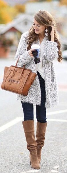 #fall #fashion / boots + gray