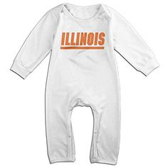 OOKOO Baby's University Of Illinois Bodysuits Outfits White 24 Months >>> Click here for more details @