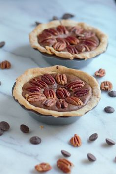 Dark Chocolate Brownie Pecan Pies from Pidges Pantry