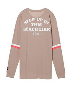 Victorias Secret Pink Henley Long Sleeve  Step UP In This Beach Like  Shirt 8060cfb2ff
