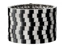 Onyx and diamond cuff by Cartier