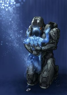 This is a portrait of Master Chief and Cortana made after I completed Halo I really enjoyed that game. Halo Master Chief, Master Chief And Cortana, Odst Halo, Halo 2, Halo Reach, Fantasy Poster, White Walker, Cyberpunk, Cortana Halo