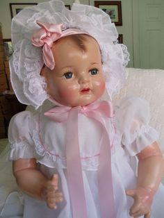 """VINTAGE COMPOSITION   EFFANBEE SUGAR BABY 23""""  DOLL  """"BEAUTIFUL"""""""