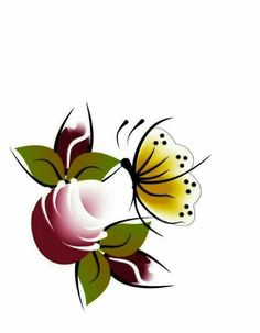 Star Painting, One Stroke Painting, Body Painting, Rock Flowers, Butterfly Flowers, Flower Art, Simple Flower Design, Simple Flowers, Drawing Sketches