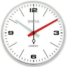 Smiths Clocks Drake Wall Clock - Chrome