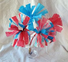 4th of July Coffee Filter Fireworks Flower Craft