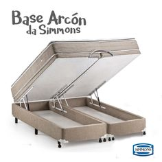 """A base """"Arcón"""", da Simmons, é tudo o que você queria para a sua cama. O modelo reune espaço, praticidade e estilo. Além de ser super fácil de abrir e fechar, a estrutura permite o máximo de aproveitamento do espaço interior e é ideal para o uso diário. ;)  #colchõesbotafogo #colchõesbotafogoipanema #colchões #sealy #simmons #tempur #epeda #stearns&foster #ipanema #decoração #ideiasdedecoração #quarto #rio"""